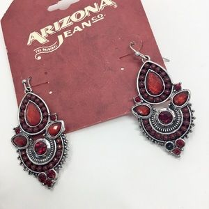 Arizona Jean Company Jewelry - Arizona Jean co. Red ornate earrings